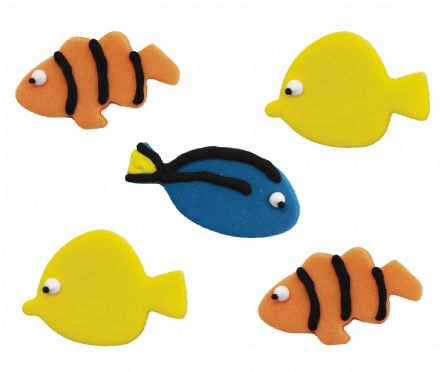 Tropical Fish Sugar Decorations